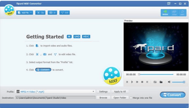 Tipard MXF Converter Free Download